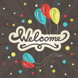 Welcome lettering greeting card Royalty Free Stock Images