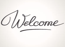 Welcome lettering Royalty Free Stock Images