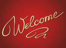 Welcome lettering Royalty Free Stock Image