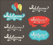 Welcome lettering set Royalty Free Stock Photography