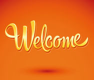 Welcome - lettering vector Royalty Free Stock Photos