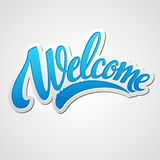 Welcome lettering. Vector illustration Royalty Free Stock Images