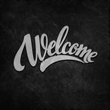 Welcome lettering. Vector illustration Royalty Free Stock Image