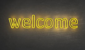 Welcome Light sign Royalty Free Stock Images