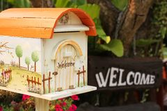 Welcome mail box Royalty Free Stock Image