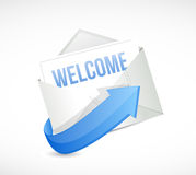 Welcome mail message illustration design Stock Image