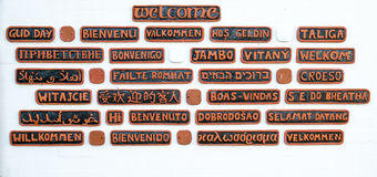 Welcome in many languages Stock Photos