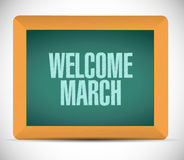 Welcome March chalkboard sign illustration Royalty Free Stock Photography