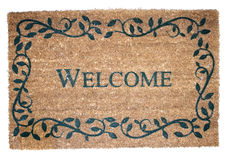 Welcome mat. Isolated on a white background