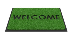 Welcome mat. Isolated over white - 3d render Royalty Free Stock Photos