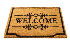 Welcome Mat. Image of a straw welcome mat Royalty Free Stock Images