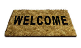 Welcome mat. Carpet isolated on white representing the concept of welcoming new ideas and people to a home or business and also symbolising the concept of open royalty free illustration