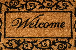 Welcome Mat Background. Conceptual Image Of A Welcome Door Mat Royalty Free Stock Photography