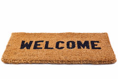 Welcome mat cut out Stock Images