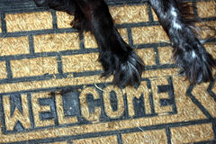 Welcome mat Stock Photography