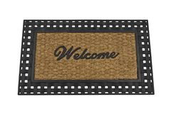 Welcome Mat Isolated. On white Stock Photos