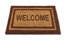 Welcome Mat Isolated Stock Photography