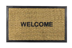 Welcome Mat Isolated Royalty Free Stock Photography