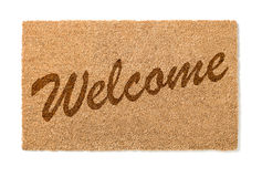 Welcome Mat On White Stock Photos