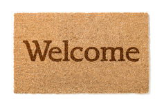 Welcome Mat On White Stock Photography