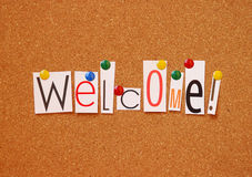 Welcome message Stock Photo