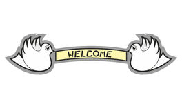Welcome message Royalty Free Stock Photography
