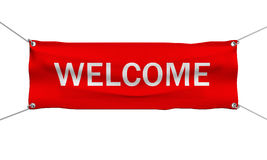 Welcome message banner isolated Stock Images
