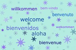 Welcome message in different languages Royalty Free Stock Photos