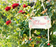Welcome message wooden Royalty Free Stock Photography