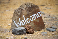 Welcome message Stock Photos