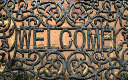 Welcome metal letter Stock Images