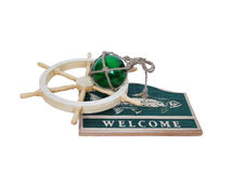 Welcome nautical sign Stock Image