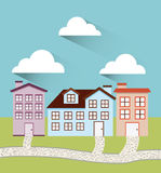 Welcome neighborhood. Design, vector illustration eps10 graphic Royalty Free Stock Image