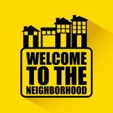 Welcome neighborhood royalty free illustration