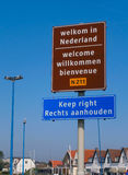 Welcome in The Netherlands Royalty Free Stock Photo