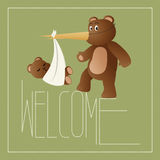 Welcome New Baby Stock Photos