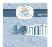 Welcome new baby boy Stock Image