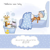 Welcome new baby boy Royalty Free Stock Image
