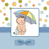 Welcome new baby boy Stock Photo