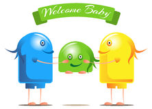 Welcome for the new baby Stock Photos