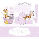 Welcome new baby girl Royalty Free Stock Photography