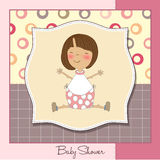 Welcome new baby girl. Greeting card Royalty Free Stock Photo
