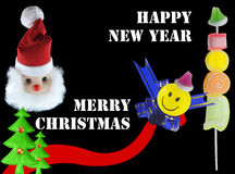 Welcome new year. Christmas and new year welcome banner Royalty Free Stock Images