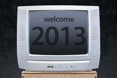 Welcome new year 2013 in television Royalty Free Stock Image