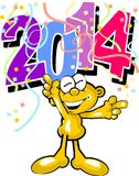 Welcome new year 2014 Royalty Free Stock Photos