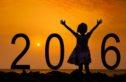 Welcome the new year - 2016 Royalty Free Stock Images