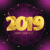 Welcome New Year royalty free illustration
