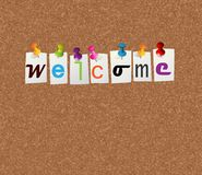 Welcome notice concept. For your design Royalty Free Stock Photo