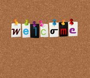 Welcome notice concept. Notice concept for your welcome message Stock Images