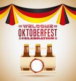 Welcome oktoberfest beer festival Stock Photo